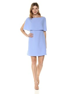 Adrianna Papell Women's Split Sleeve Popover Cameron Textured Dress