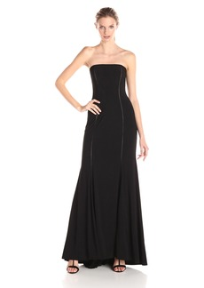 Adrianna Papell Women's Strapless Cut Out Jersey Gown