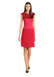 Adrianna Papell Women's Strapping and Bandage Sheath Dress
