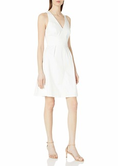 Adrianna Papell Women's Stretch Cotton Fit and Flare