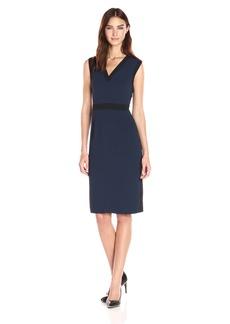 Adrianna Papell Women's Stretch Crepe Tuxedo Dress