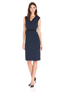 Adrianna Papell Women's Stretch Crepe Tuxedo Dress