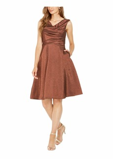 Adrianna Papell Women's Stretch Lame Party Dress