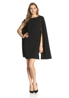 Adrianna Papell Women's Structured Cape Sheath Dress