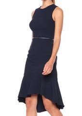 Adrianna Papell Women's Structured Knit Trumpet Dress