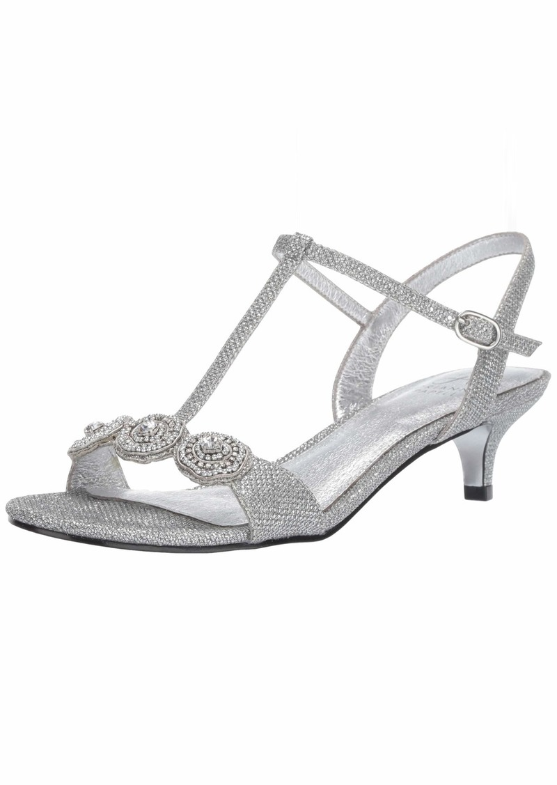 Adrianna Papell Women's Tacy Heeled Sandal ant Silver  M US