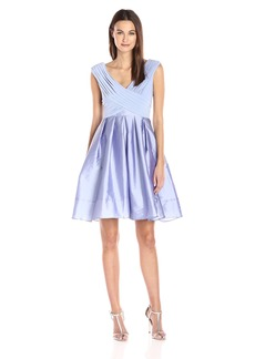 Adrianna Papell Women's Tafetta Fit and Flare Dress