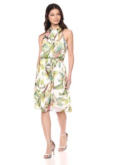 Adrianna Papell Women's Tahitian Tropics FIT and Flare
