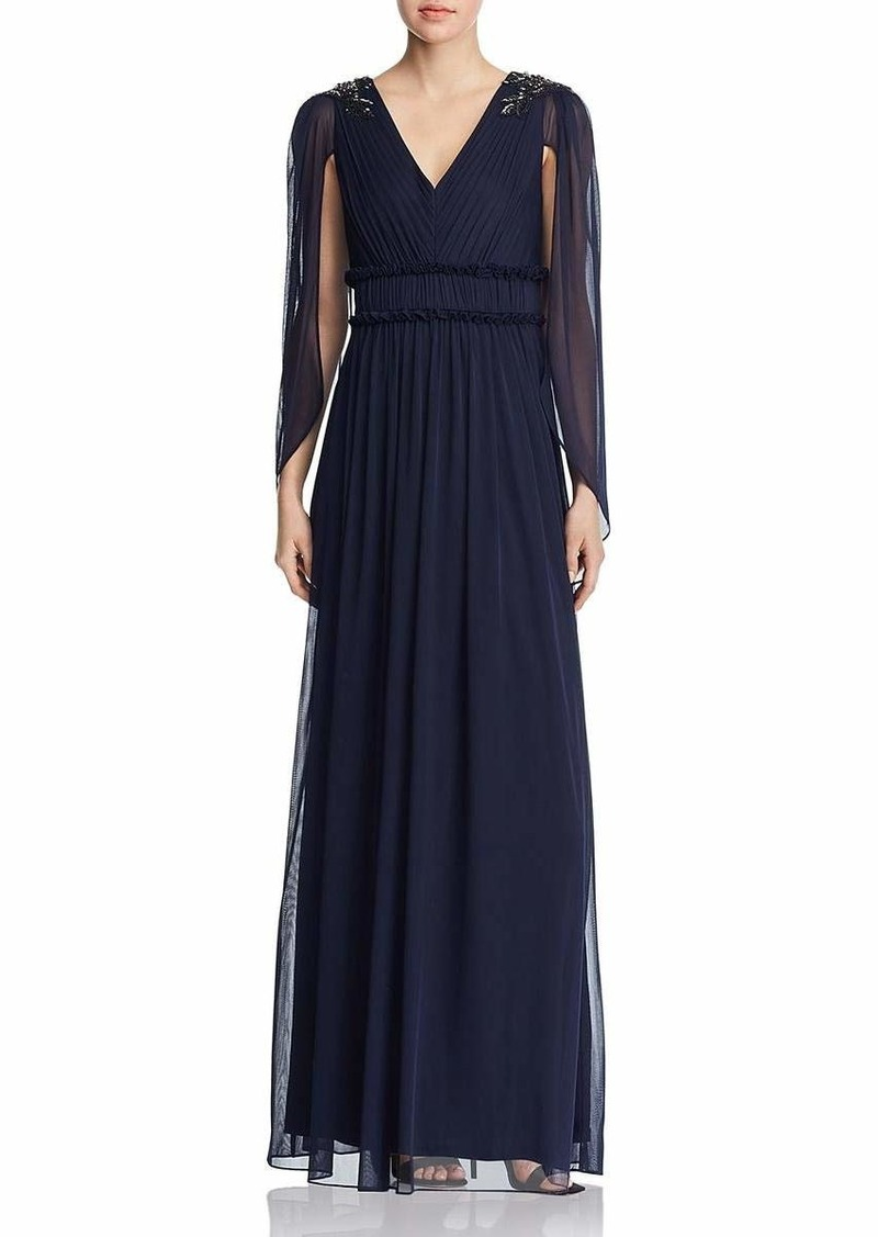 Adrianna Papell Women's Tulle Long Dress