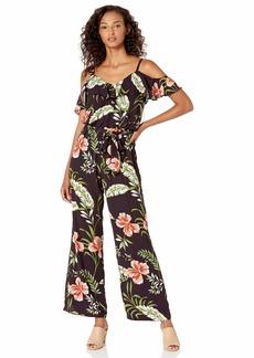 Adrianna Papell Women's Tumbling Tropic Print Jumpsuit