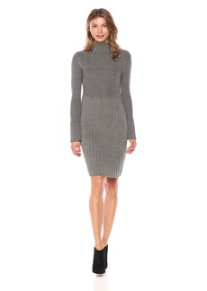 Adrianna Papell Women's Turtle Neck Slim Sweater Dress  M