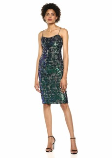 Adrianna Papell Women's Tweed Cocktail Dress with Sequin Details