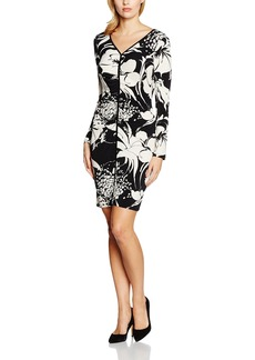 Adrianna Papell Women's V Neck Center Ruched Dress