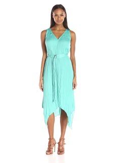 Adrianna Papell Women's V-Neck Handkerchief Dress
