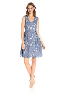 Adrianna Papell Women's V Neck Lace Dress