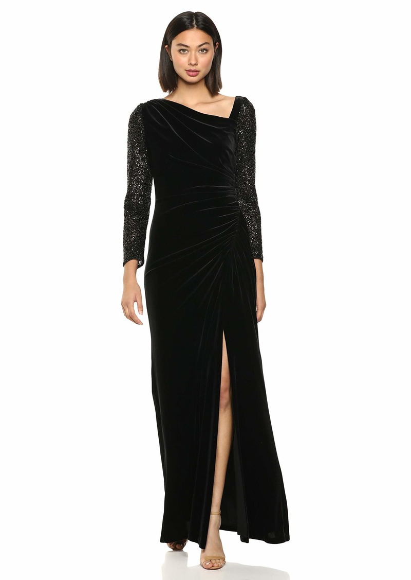 Adrianna Papell Women's Velvet and Sequin Gown