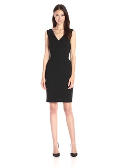 Adrianna Papell Women's Vneck Dress with Center Front Smocking