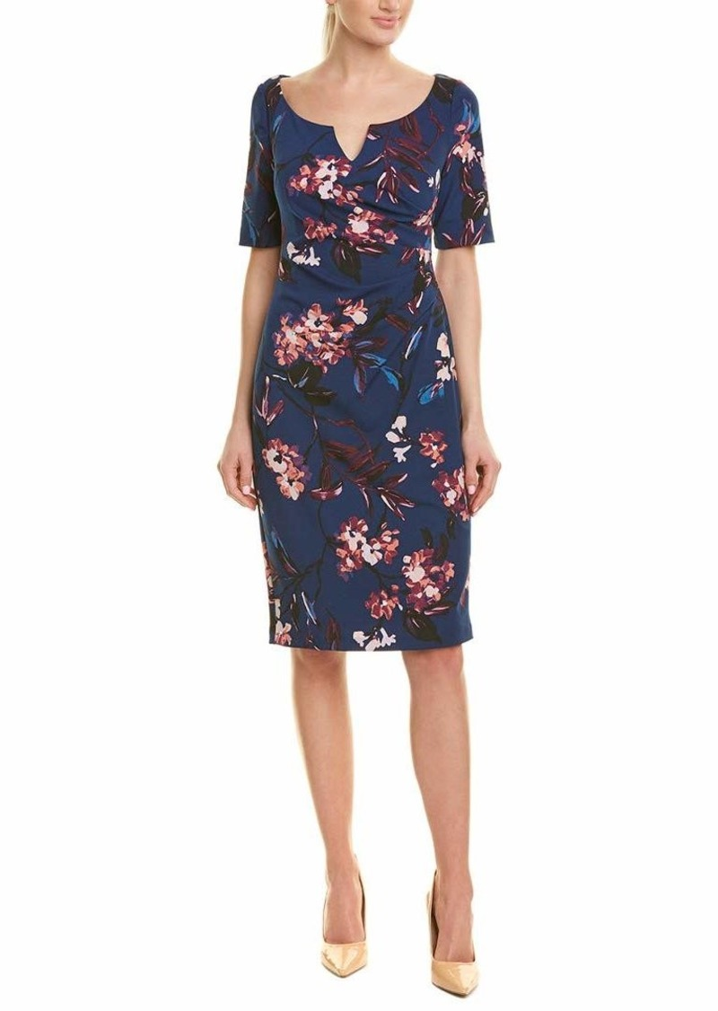 Adrianna Papell Women's VNTG FL Vine Elbow SLVE Dress