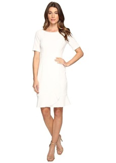 Adrianna Papell Women's Work Dress with Flounce Wrap Skirt