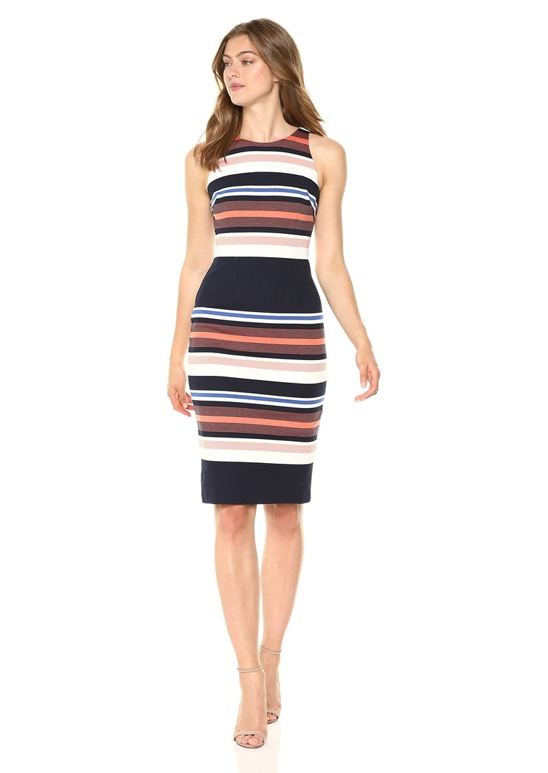 Adrianna Papell Women's Yarn-DYE Knit Sheath Dress