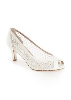Adrianna Papell 'Zandra' Crystal Embellished Peep Toe Pump (Women)