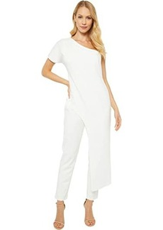Adrianna Papell Asymmetrical Crepe Jumpsuit