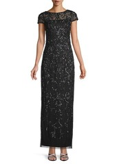 Adrianna Papell Bead-Embellished Gown
