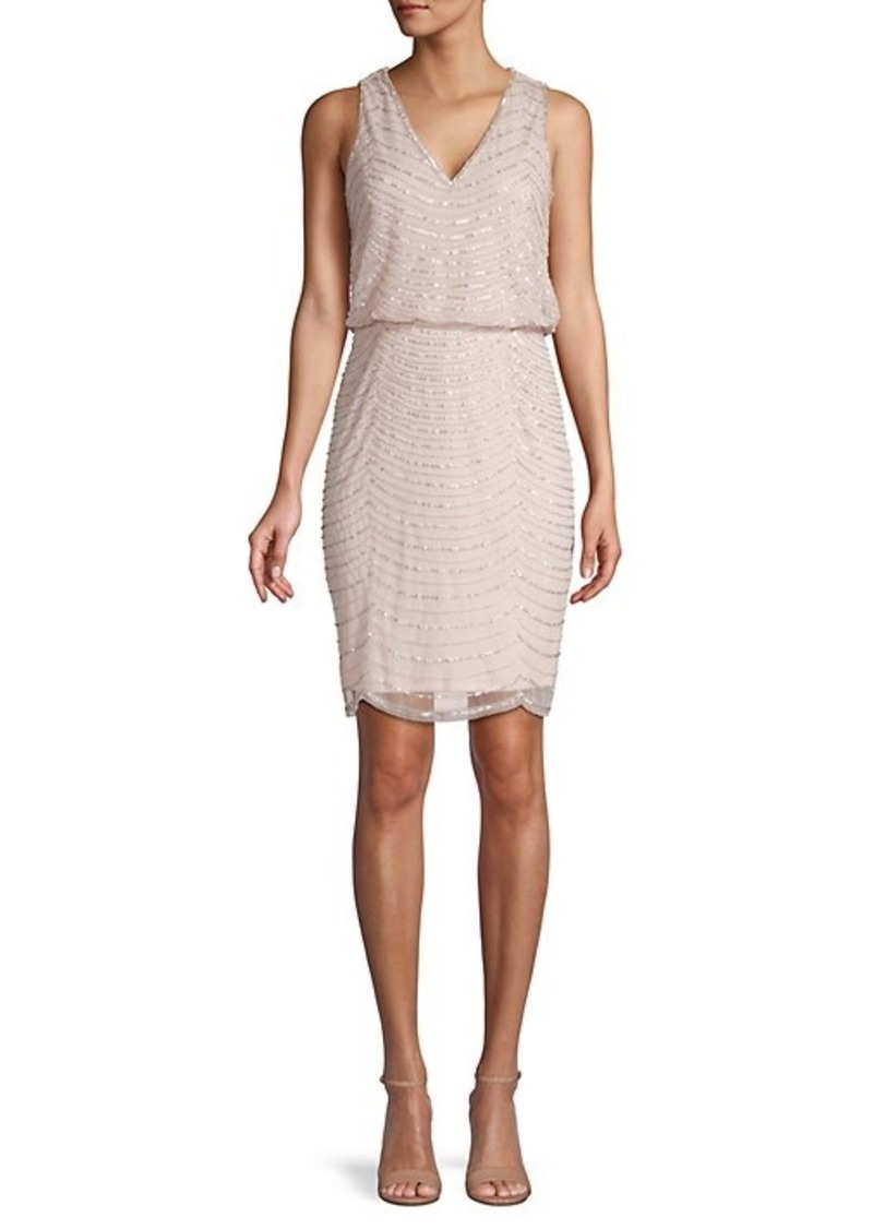 Adrianna Papell Beaded Blouson Dress