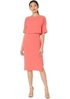 Adrianna Papell Cameron Crepe Popover Sheath Dress