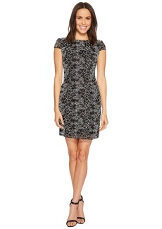 Adrianna Papell Cap Sleeve Corded Lace Sheath Cocktail Dress