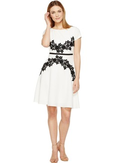 Adrianna Papell Cap Sleeve Fit and Flare Dress