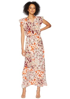 Adrianna Papell Cap Sleeve Maxi Dress