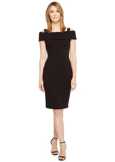 Adrianna Papell Crepe Off the Shoulder Cocktail Dress
