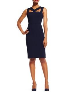 Adrianna Papell Cut-Out Power Sheath Dress