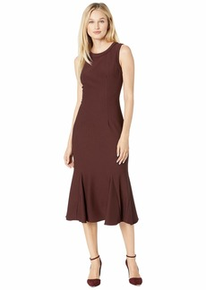 Adrianna Papell Daphne Ottoman Sleeveless Sheath Dress with Banded Crew Neckline and Armholes