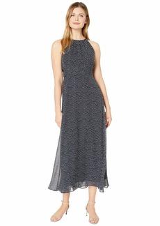 Adrianna Papell Darling Dot Halter Maxi Dress