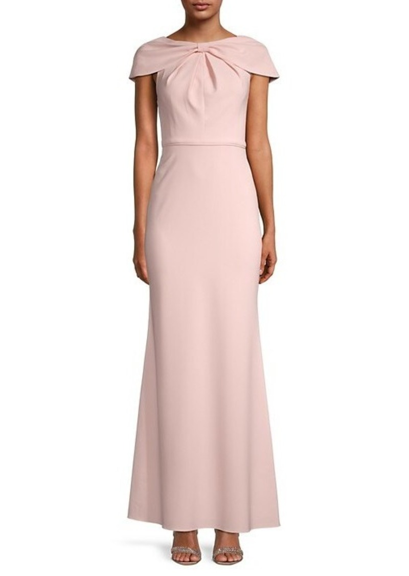 Adrianna Papell Draped Mermaid Gown
