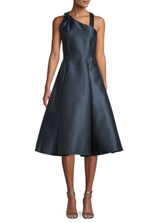 Adrianna Papell Embellished Asymmetrical Fit-&-Flare Dress