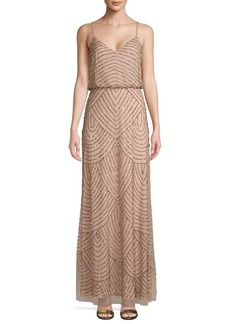 Adrianna Papell Embellished Blouson Long Dress