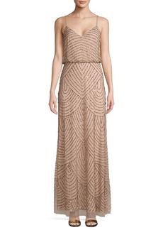 Adrianna Papell Embellished Blouson Long Dress