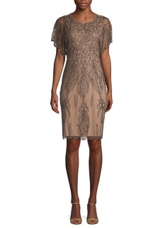 Adrianna Papell Embellished Mini Sheath Dress