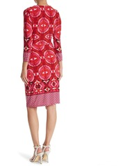 Adrianna Papell Faux Wrap Jersey Dress