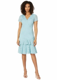 Adrianna Papell Felicity Lace Flounce Dress