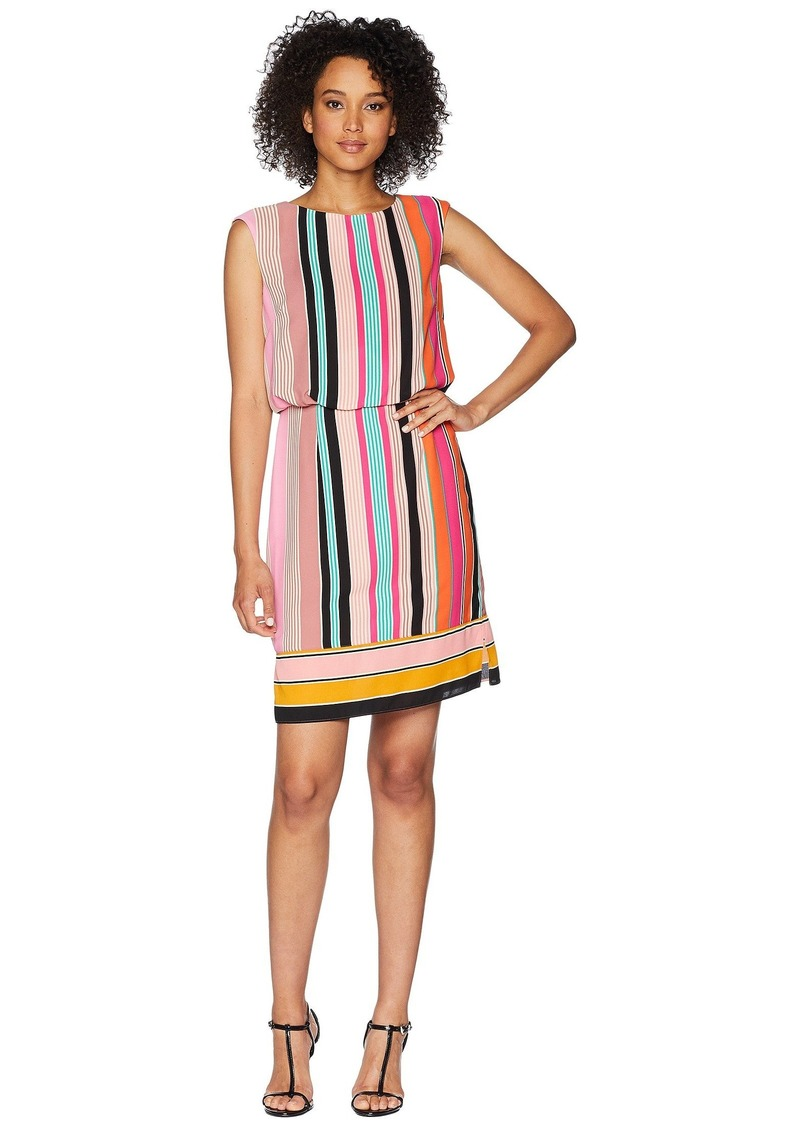 Adrianna Papell Fiesta Stripe Blouson Dress