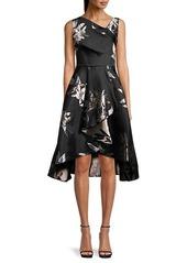 Adrianna Papell Floral Jacquard A-Line Dress