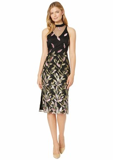 Adrianna Papell Fluttering Leaves Sheath Dress