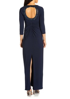 Adrianna Papell Front Twist Jersey Gown