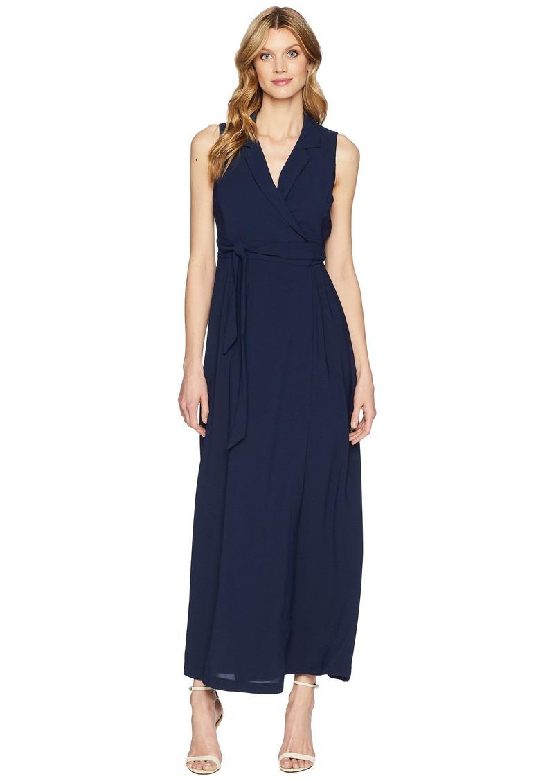 Adrianna Papell Gauzy Crepe Tuxedo Maxi Dress   Dresses - Shop It To Me