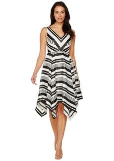 Adrianna Papell Handkerchief Skirt Dress