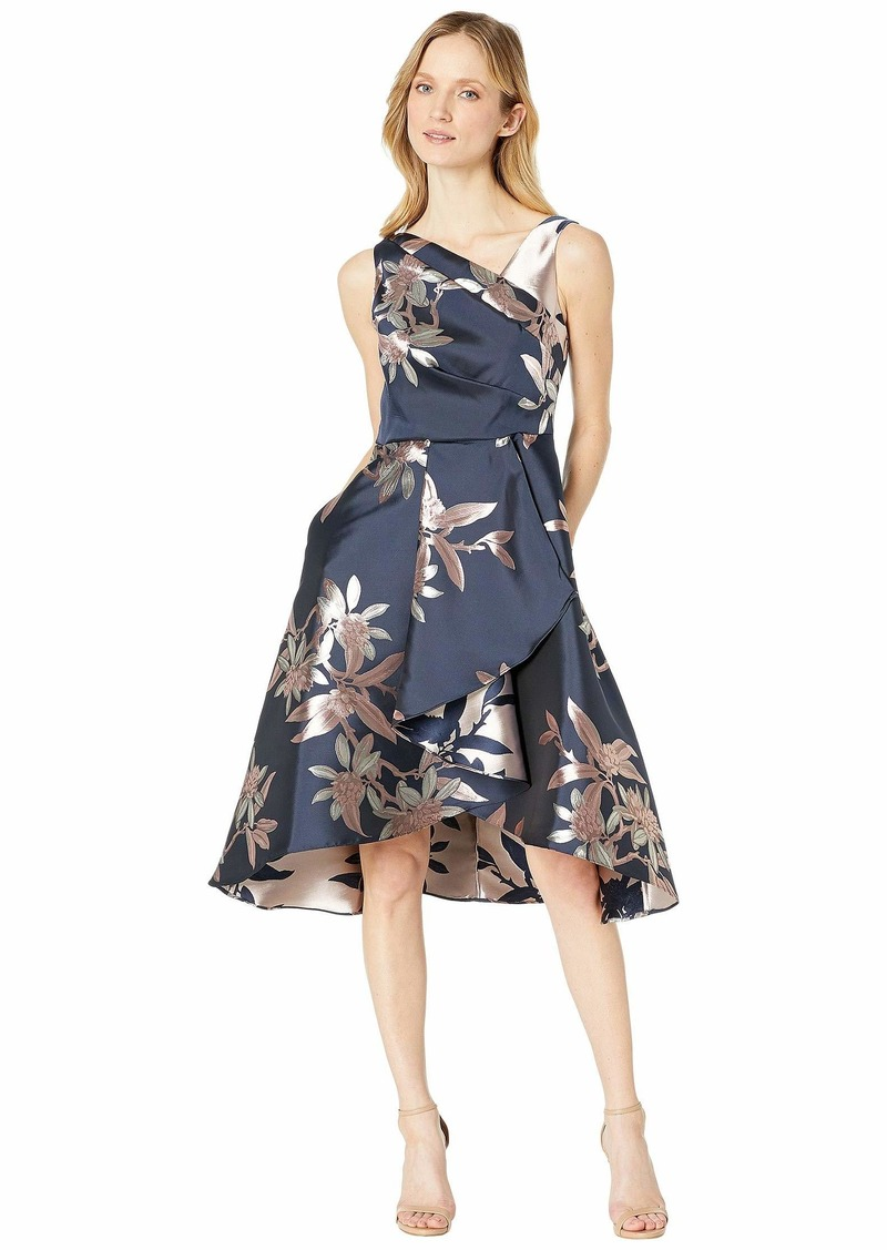 Adrianna Papell Jacquard Fit and Flare Cocktail Dress